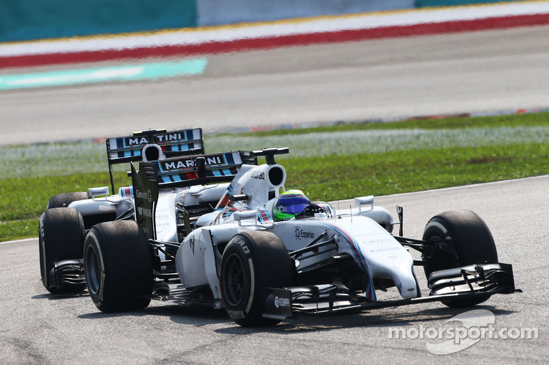 Felipe Massa, Williams FW36 ve takım arkadaşı Valtteri Bottas, Williams FW36