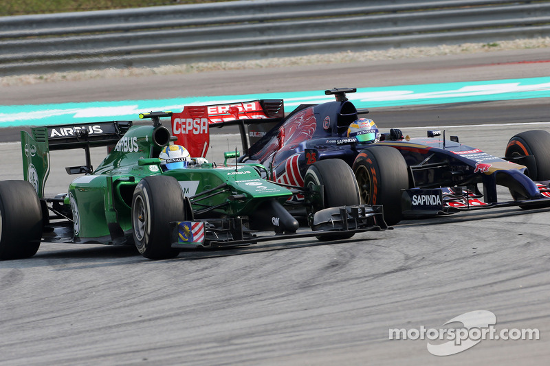 Marcus Ericsson (SWE), Caterham F1 Team; Jean-Eric Vergne (FRA), Scuderia Toro Rosso   30