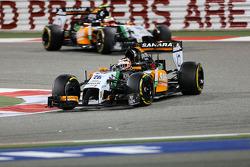 Nico Hülkenberg, Sahara Force India F1 VJM07; Sergio Perez, Sahara Force India F1 VJM07