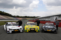 All three Manufactures, BMW M4, Audi RS5 DTM, Merecdes C-Coupe with Volker Strycek DTM Champion 1984; Frank Biela DTM Champion 1991; Bernd Schneider DTM 1995, 2000, 2001, 2003, 2006