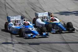 James Hinchcliffe, Andretti Autosport Honda and Simon Pagenaud, Schmidt Peterson Hamilton Motorsports Honda