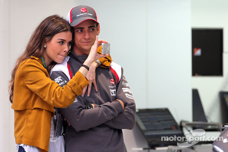 Esteban Gutierrez, Sauber F1 Team and his girlfriend