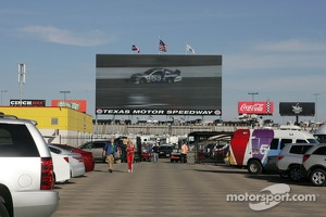 Big Hoss Television on the back straight at Texas Motor Speedway