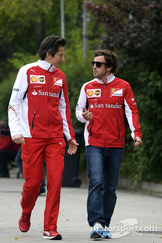 Fernando Alonso, Ferrari ve Massimo Rivola, Ferrari Sportif Direktörü