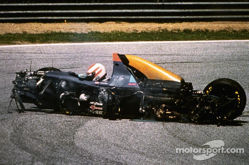 Roland Ratzenberger, Simtek, lors de son accident mortel