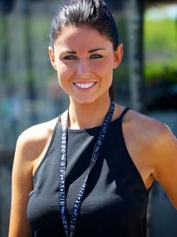 Kristen Dee, girlfriend of James Hinchcliffe, Andretti Autosport Honda