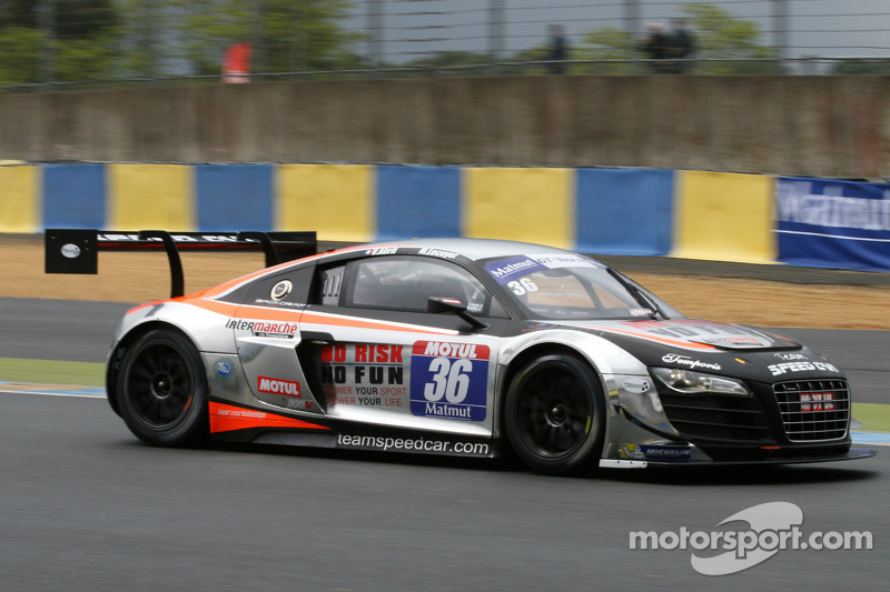 #36 Team Speed Car 奥迪 R8 LMS Ultra: Mathieu Lecuyer, Vincent Abril
