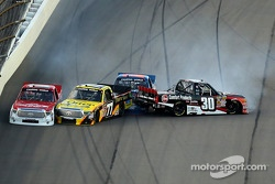 Trouble for Timothy Peters, German Quiroga, Spencer Gallagher, Ron Hornaday Jr.