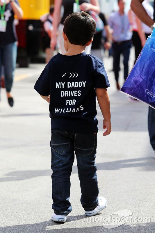 Felipinho Massa, hijo de Felipe Massa, Williams