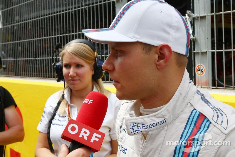 Valtteri Bottas, Williams sulla griglia di partenza