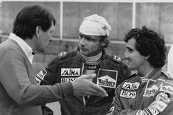 Джон Барнард и гонщики McLaren Ники Лауда и Ален Прост