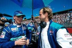 Johnny Herbert, Sauber, mit Josef Leberer, Physiotherapeut