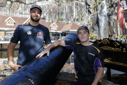 Shane van Gisbergen, Triple Eight Race Engineering Holden and Richie Stanaway, Tickford Racing Ford  firer the cannons at Penny Royal Adventures
