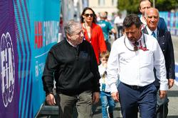 Jean Todt, FIA President arriving on track