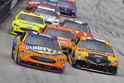 Ricky Stenhouse Jr., Roush Fenway Racing, Ford Fusion SunnyD and Erik Jones, Joe Gibbs Racing, Toyota Camry DeWalt