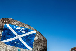Flag of Scotland in homage to Colin McRae