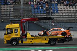 Jamie Green, Audi Sport Team Rosberg, Audi RS 5 DTM after the crash