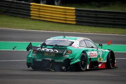 Nico Müller, Audi Sport Team Abt Sportsline, Audi RS 5 DTM, después del choque