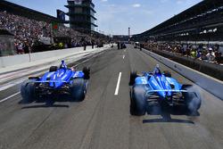Scott Dixon, Chip Ganassi Racing Honda, Ed Jones, Chip Ganassi Racing Honda, Pit stop Competition