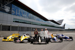 Derek Warwick, Romain Grosjean and Damon Hill