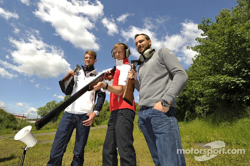 Tiro al piattello con Mattias Ekstrom, Audi Sport Team Abt Sportsline, Audi RS 5 DTM, Marco Wittmann, BMW Team RMG, BMW M4 DTM, e Gary Paffett, EURONICS Mercedes AMG, Portrait