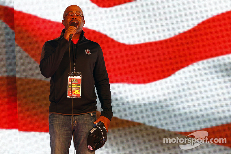 Darius Rucker performs the National Anthem