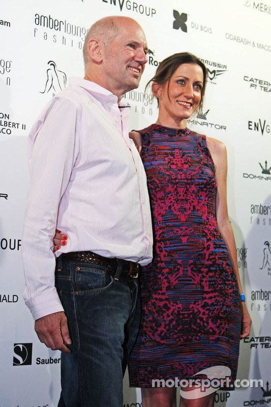 Adrian Newey, Red Bull Racing Chief Technical Officer with his partner Amanda Smerczak at the Amber