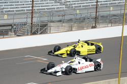 Simon Pagenaud, Schmidt Peterson Hamilton Motorsports Honda and Jacques Villeneuve, Schmidt Petersen Racing