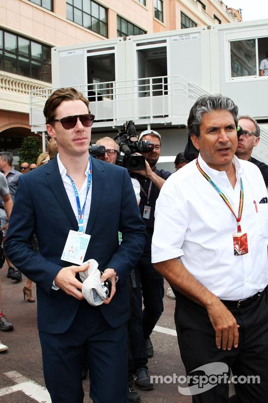 Benedict Cumberbatch, ator, com Pasquale Lattuneddu, da FOM