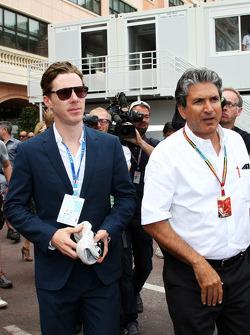 Benedict Cumberbatch, Actor, with Pasquale Lattuneddu, of the FOM