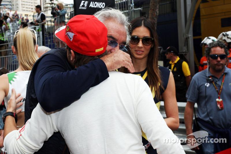 Flavio Briatore, con la moglie Elisabetta Gregoraci e Fernando Alonso, Ferrari