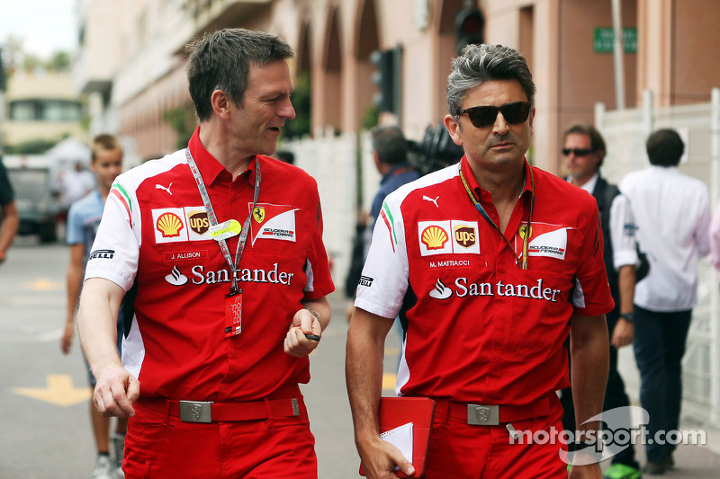 (L to R): James Allison, Ferrari Chassis Technical Director with Marco Mattiacci, Ferrari Team Princ