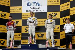 Podium,  2nd Miguel Molina, Audi Sport Team Abt Audi RS 5 DTM, 1st Marco Wittmann, BMW Team RMG BMW M4 DTM, 3rd Bruno Spengler, BMW Team Schnitzer BMW M4 DTM and Stefan Reinhold , BMW Team RMG