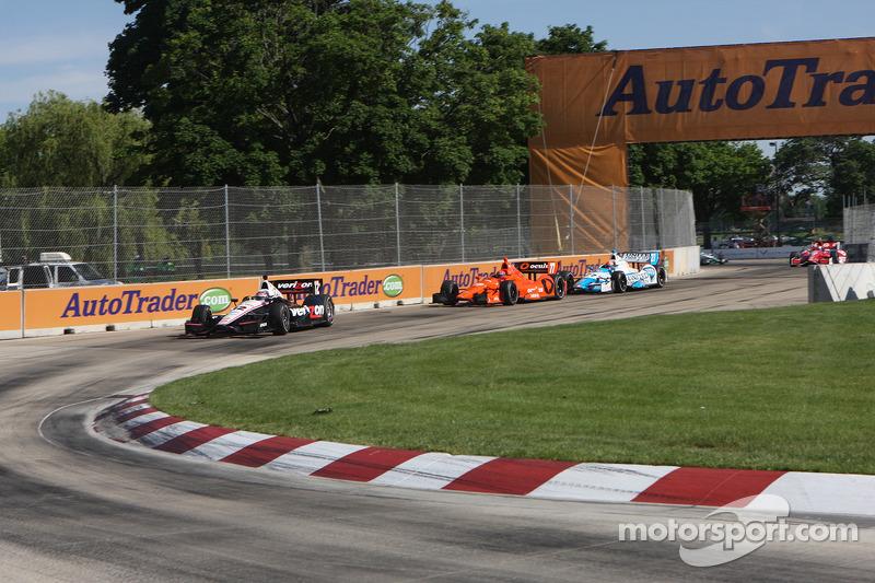 Will Power, Team Penske Chevrolet Simon Pagenaud, Schmidt-Hamilton Motorsports Honda James Hinchclif