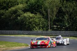 #51 AF Corse Ferrari 458 Italia: Gianmaria Bruni, Toni Vilander, Giancarlo Fisichella and #20 Porsche Team Porsche 919 Hybrid: Timo Bernhard, Mark Webber, Brendon Hartley