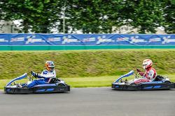 Media/drivers karting race: Nicolas Minassian and Tom Kristensen