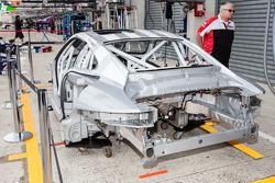 A new #91 Porsche Team Manthey Porsche 911 RSR (991) after the crash of Jörg Bergmeister on Sunday
