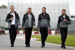 Kevin Magnussen, McLaren walks the circuit