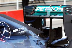 Mercedes AMG F1 W05, Heckflügel. Detail