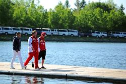 Jean Alesi, Gino Rosato, Ferrari y Kimi Raikkonen, Ferrari