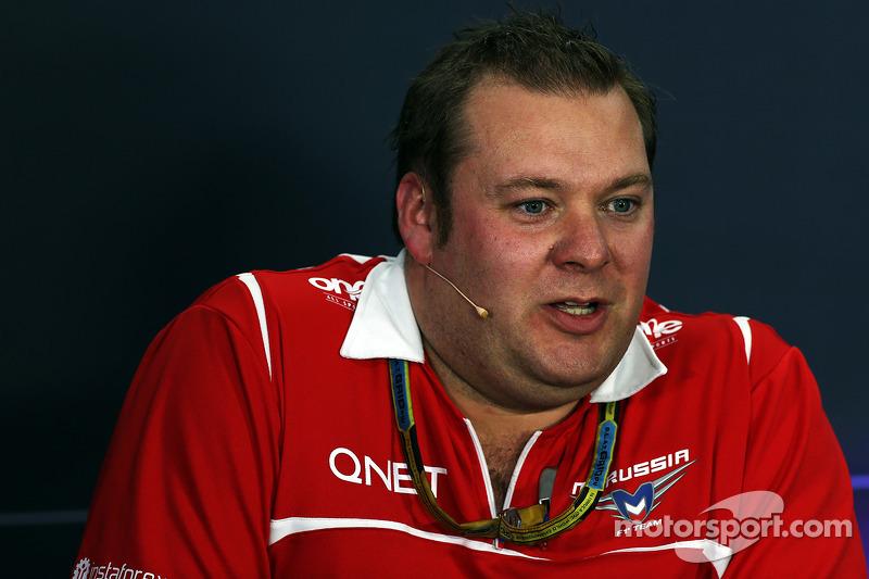 Dave Greenwood, Marussia F1 Takımı Yarış Mühendisi FIA Basın Konferansı'nda