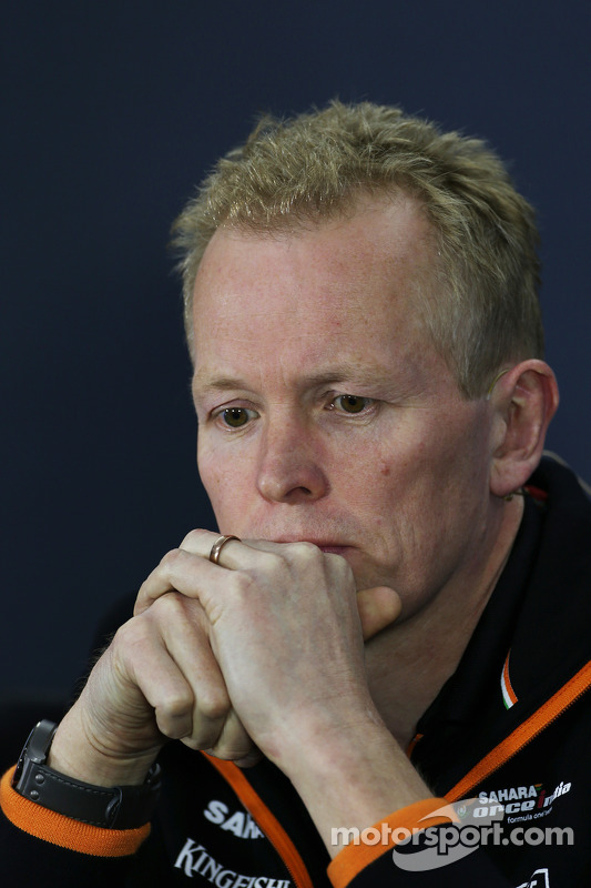 Andrew Green, diretor técnico da Sahara Force India F1 Team, na coletiva de imprensa