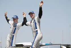 Podium: third place Jari-Matti Latvala and Miikka Anttila, Volkswagen Polo WRC, Volkswagen Motorsport