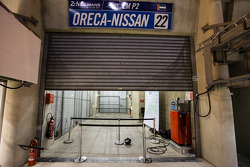 Empty garage area for Millenium Racing