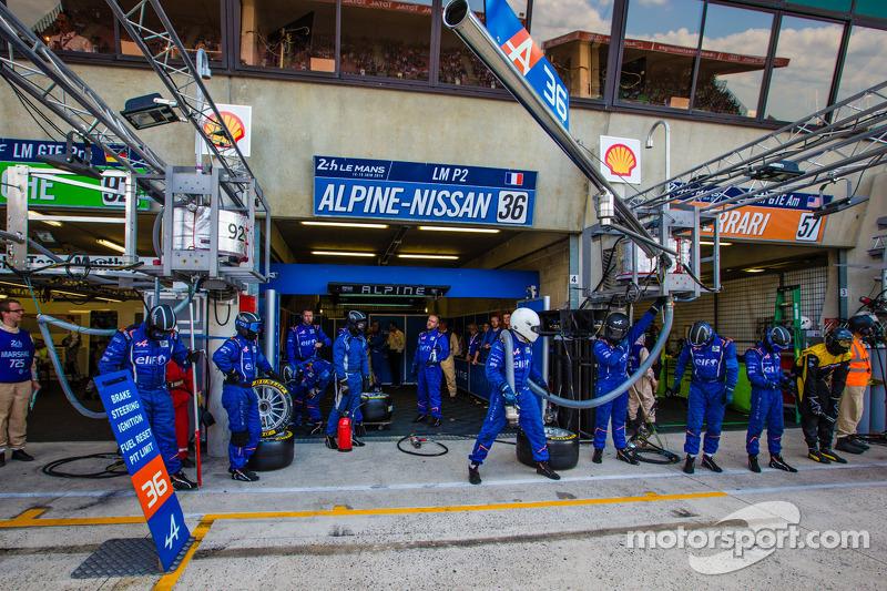 Signatech Alpine, membri del team pronti per un pit stop