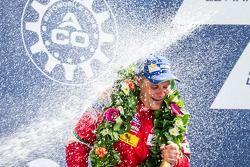 LMGTE Pro podium: Douche de champagne pour Gianmaria Bruni