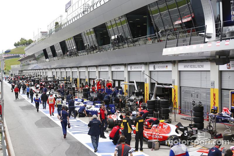 La pitlane GP3
