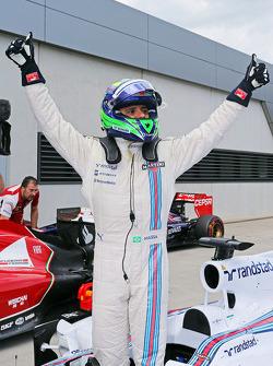 Felipe Massa, Williams FW36 celebra pole position