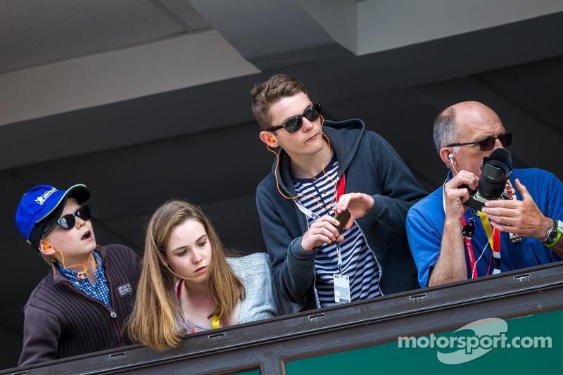 Fans watching pit lane