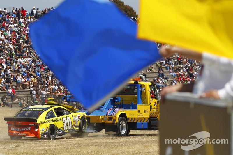 L'auto incidentata di Matt Kenseth, Joe Gibbs Corsa Toyota